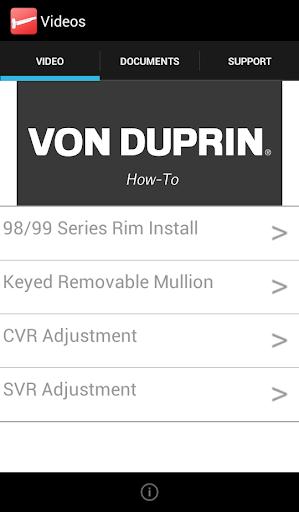 Von Duprin How-To