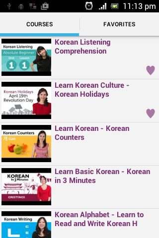 Korean Conversation Courses