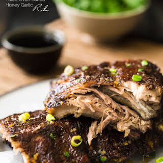 Paleo Oven Baked Ribs with 5 Spice and Honey Garlic Glaze.