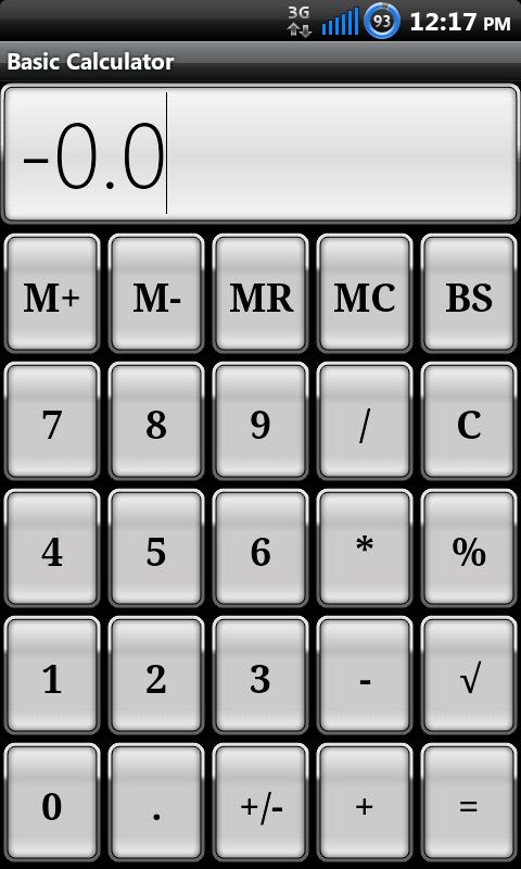 Basic Calculator - screenshot