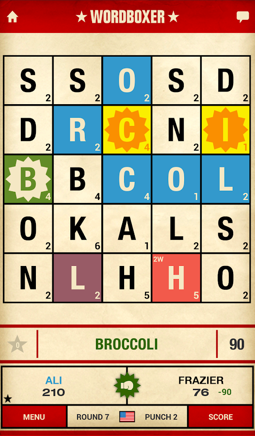 WordBoxer: Knockout Word Game- screenshot
