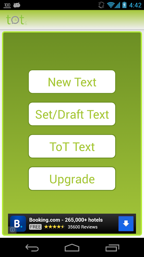 TOT - Text on Time - screenshot
