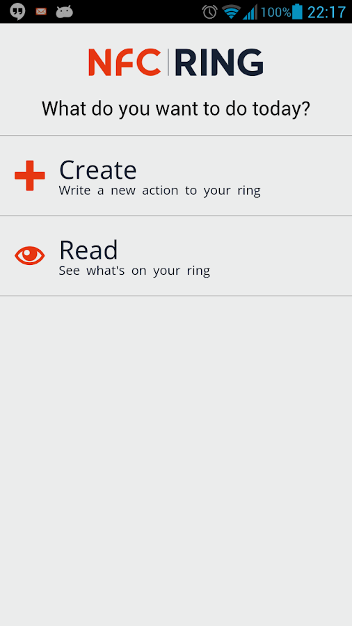 NFC Ring Control- screenshot