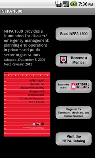 NFPA 1600 2007 Edition- screenshot thumbnail