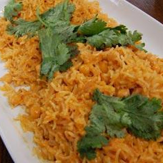 Indian-Style Chickpea, Coconut and Mango Rice Recipe