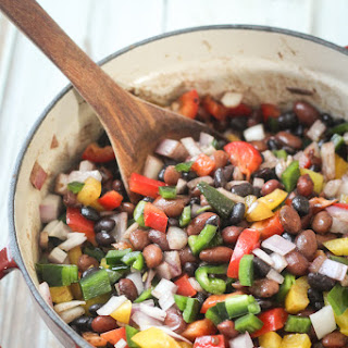 Mexican Three Bean and Three Pepper Salad