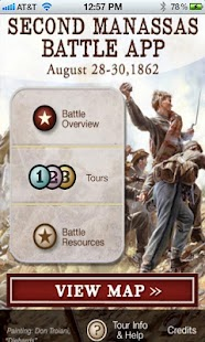 Second Manassas Battle App- screenshot thumbnail