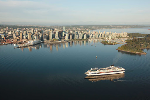 cruiseterm3-Vancouver-British-Columbia - A Celebrity Cruise ship coming into port in Vancouver, British Columbia
