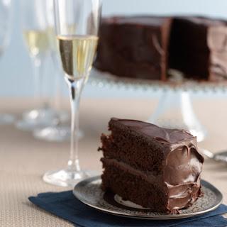 Double-Deep-Chocolate Hanukkah Layer Cake
