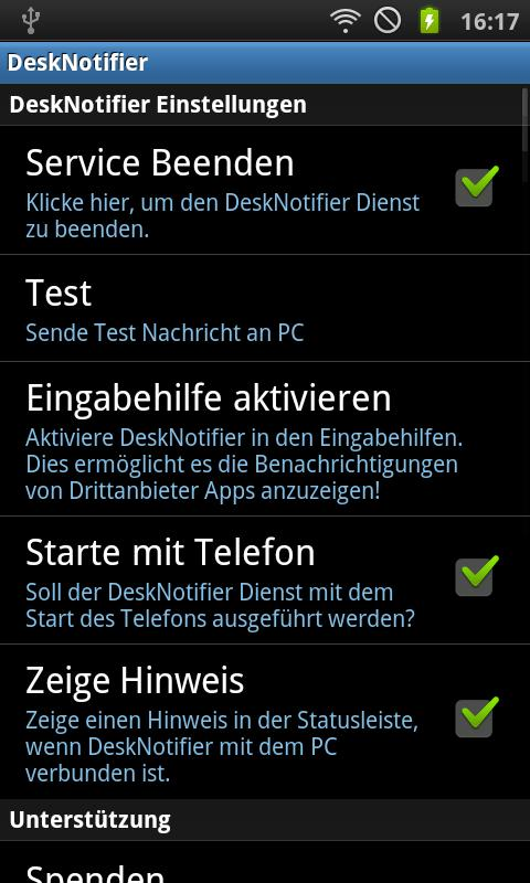 DeskNotifier Free - screenshot
