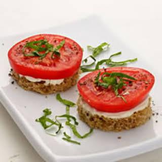 Tomato and Basil Finger Sandwiches.