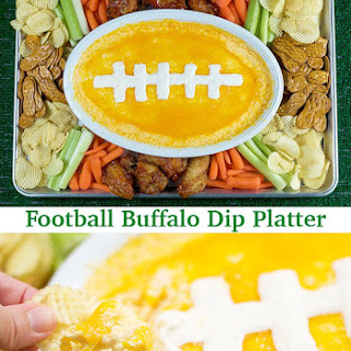 Football Buffalo Dip Platter!.