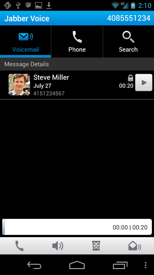 Cisco Jabber Voice - screenshot
