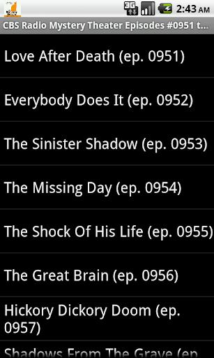 免費下載音樂APP|CBS Radio Mystery Theater V.20 app開箱文|APP開箱王