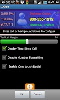 Screenshot of LOGgle Call Widget