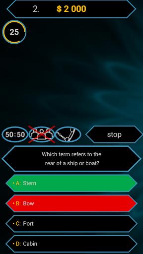 Millionaire Quiz Free: Be Rich 2.5.1 screenshots 3