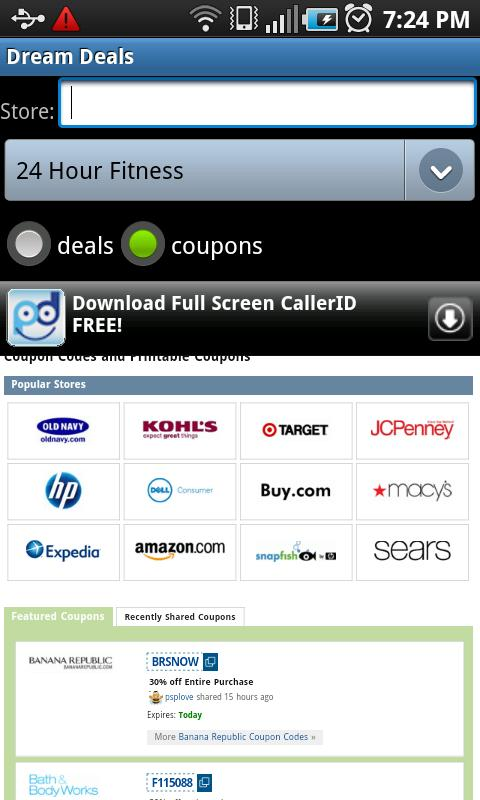 Dream Deals and Coupons- screenshot