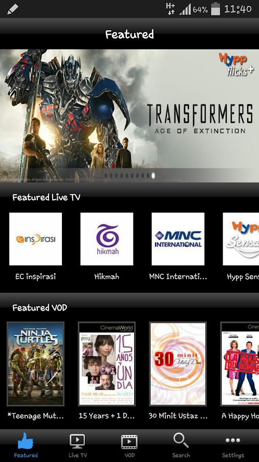 HyppTV Everywhere (phone) - screenshot