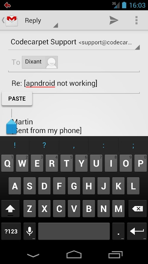 Gmail Canned Responses BETA- screenshot