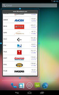 Awesome Stocks Widget- screenshot thumbnail