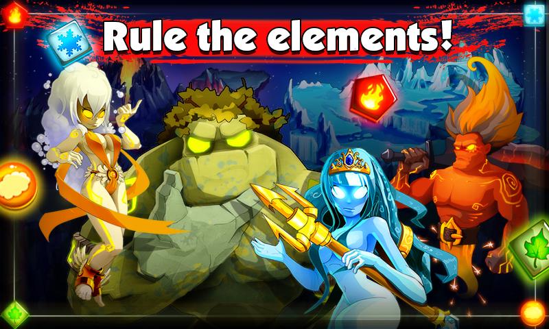 Elements Battle - Epic match 3 screenshot #1