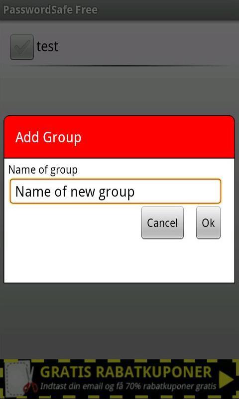 PasswordSafe Free- screenshot
