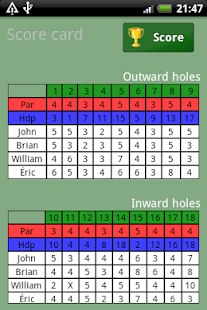 Golf Scorer Free- screenshot thumbnail