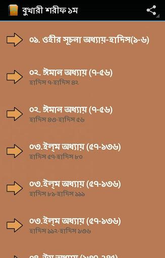 বাংলা বুখারী শরীফ ১ম