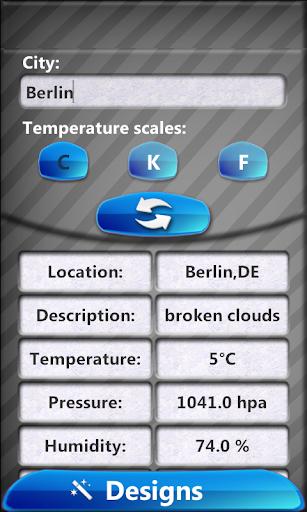 透明的 - 天氣時鐘