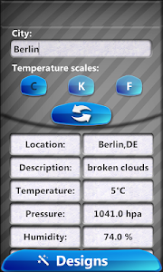 Transparent Weather And Clock screenshot 0