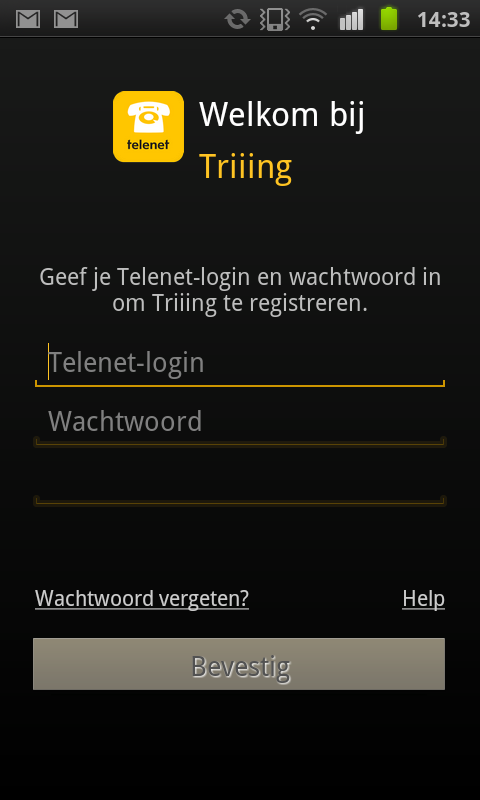 Triiing - screenshot