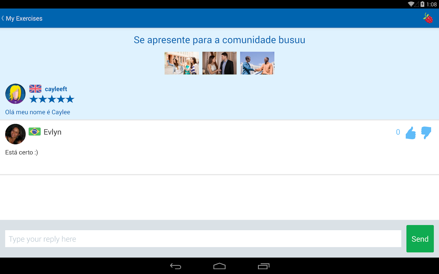 Learn Portuguese - busuu- screenshot
