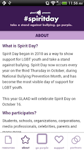 Go Purple for #spiritday- screenshot thumbnail