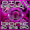 Pink Bionic Free GO SMS Theme logo