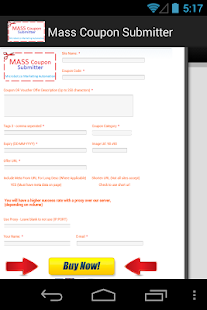 Mass Coupon Submitter- screenshot thumbnail