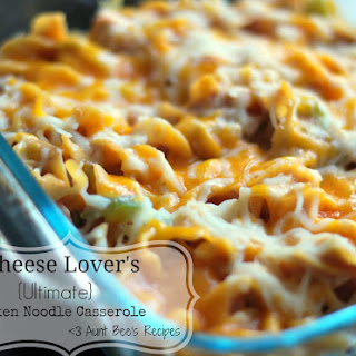 Cheese Lover's {Ultimate} Chicken Noodle Casserole.