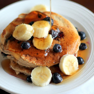 Oatmeal Cottage Cheese Banana Pancakes {high in protein, gluten-free}.
