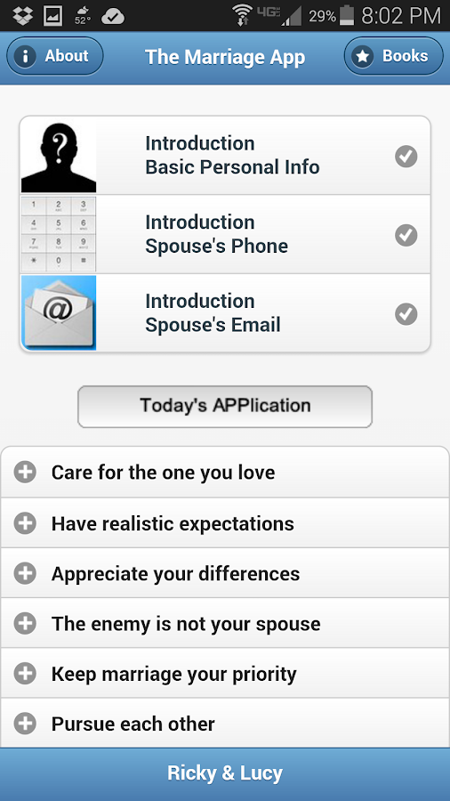 The Marriage App- screenshot