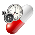 Medication alarm clock logo