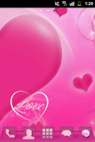 GO Launcher EX Theme Love Pink - screenshot