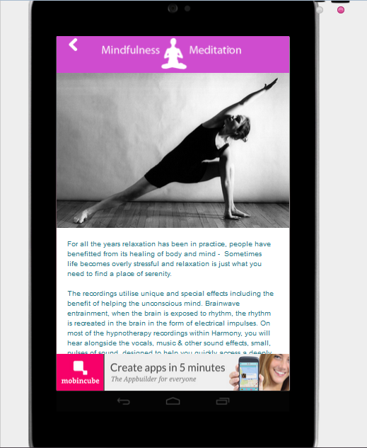 Mindfulness meditation relax- screenshot