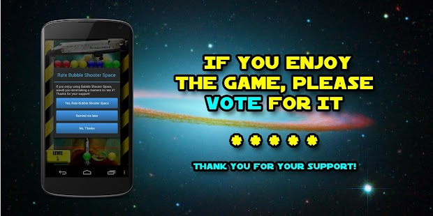 Bubble Shooter Space Free- screenshot thumbnail