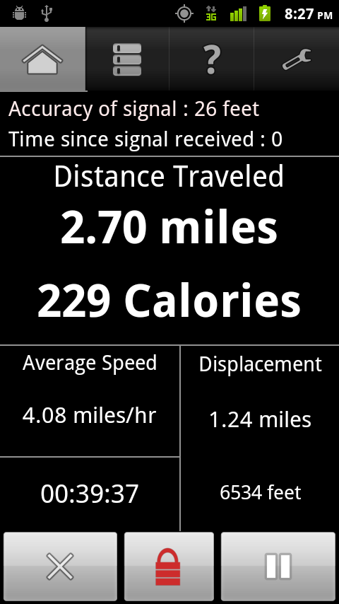 GPS Odometer - screenshot