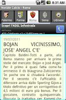 Screenshot of Notizie Calcio Serie A 2015-16