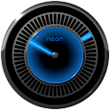 NEON BLUE Laser Clock Widget icon