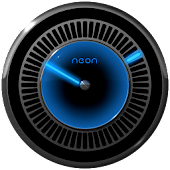 NEON BLUE Laser Clock Widget