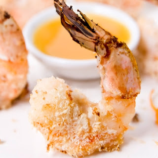 Panko Shrimp with Ginger Orange Dipping Sauce