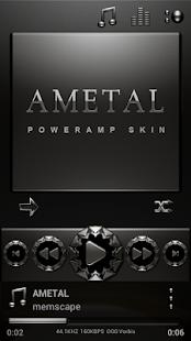 Poweramp skin Ametal
