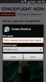 Web Shortcut- screenshot thumbnail
