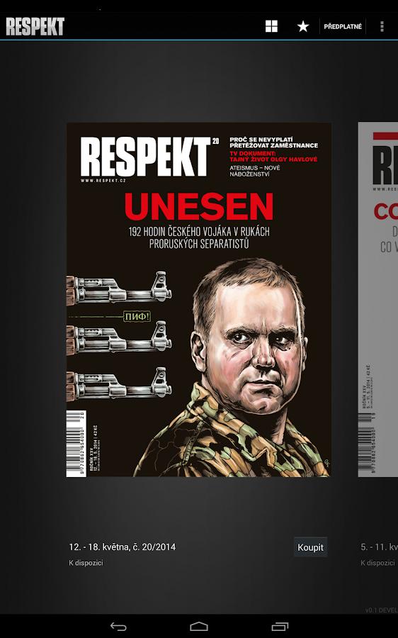 Týdeník Respekt - screenshot